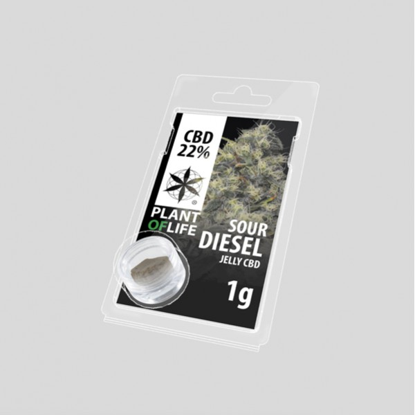 Sour Diesel jelly hash CBD solid 22%