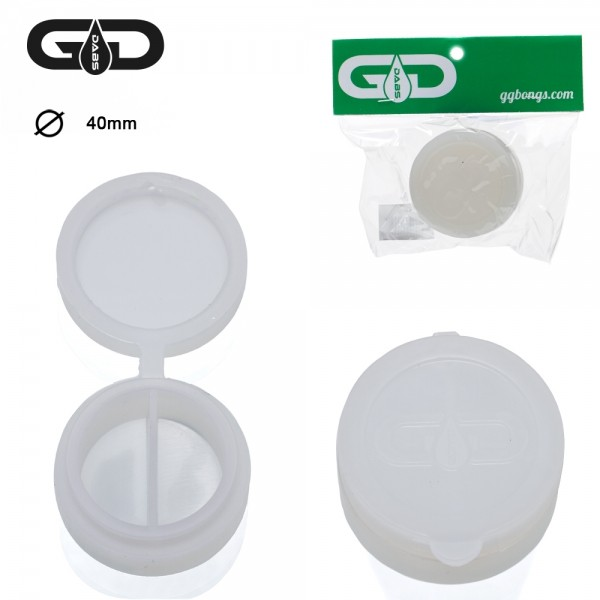 Grace Glass Dab jar | Silicone | Ø:40MM | White