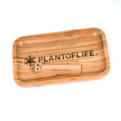 Bamboo Plant of life rolling tray Large