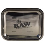 RAW Black gold rolling tray small