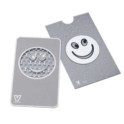 Weed flat grinder | Smiley | stainless steel