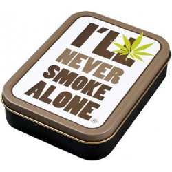 Square box | Metal | Never Smoke Alone | 8x11cm