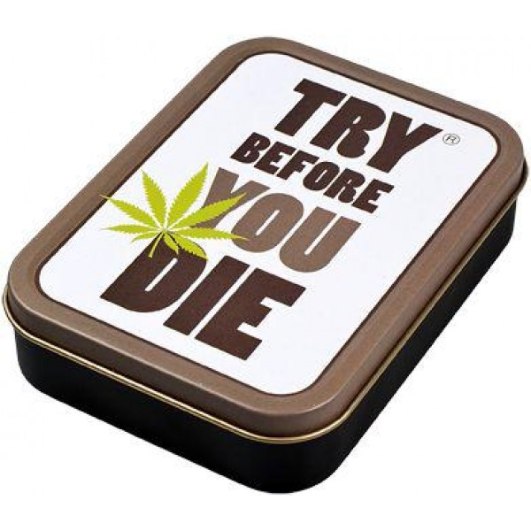 Square box | Metal | Try before you die  | 8x11cm
