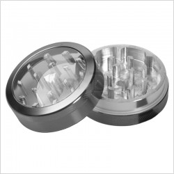 weed grinder | 4 part | grey | Aluminium |  Ø 40mm |clear view