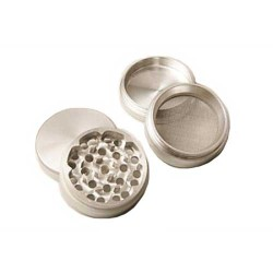 weed grinder | 4 part | Silver | Aluminium |  Ø 50mm