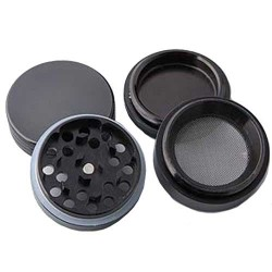 weed grinder | 4 part | black | Aluminium |  Ø 40mm