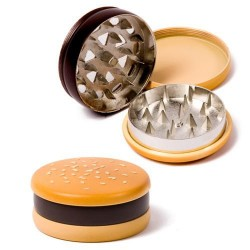 Weed grinder | 3 part | hamburger | Aluminum | polinator | Ø 55 mm